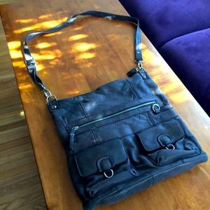 SALE! Leather Nino Bossi Crossbody/Shoulder Bag